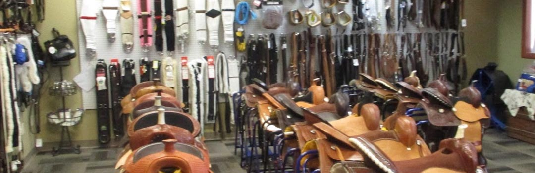 Saddles in the store